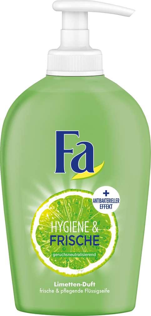 Abbildung des Sortimentsartikels Fa Flüssigseife Hygiene & Frische Limette & Ingwer 250ml