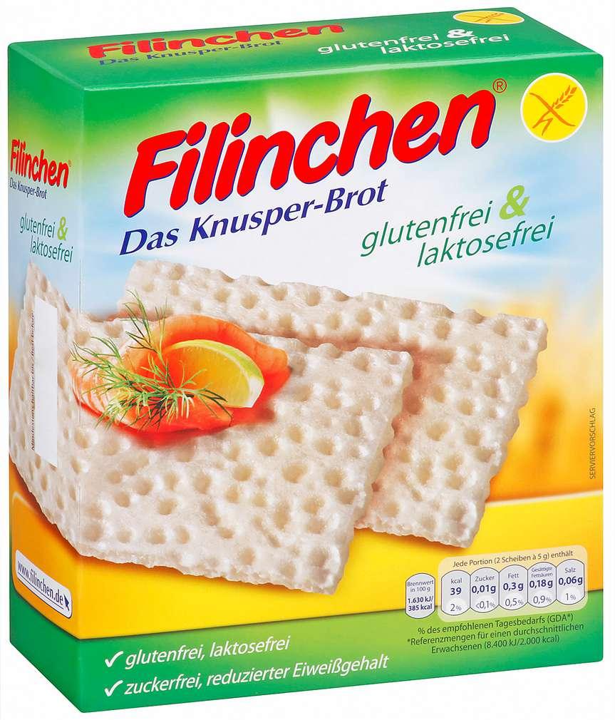 Abbildung des Sortimentsartikels Filinchen Knusper-Brot gluten- & laktosefrei 100g