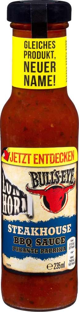 Abbildung des Sortimentsartikels Bulls-Eye Steakhouse Barbecue Sauce 235ml