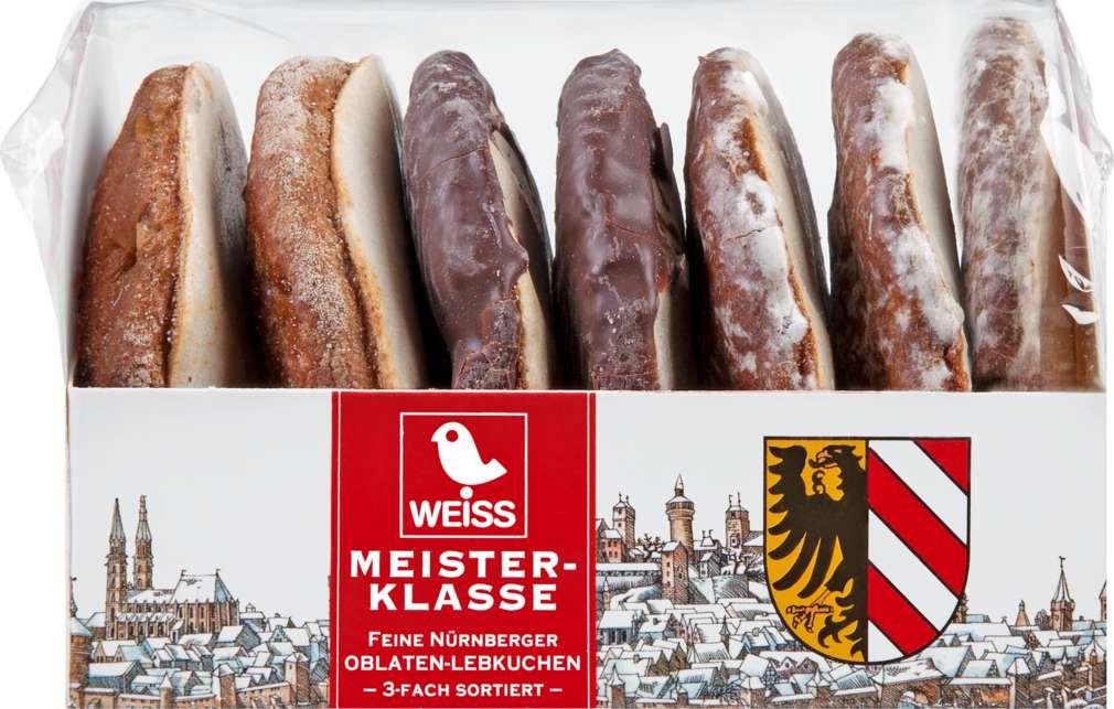 Abbildung des Sortimentsartikels Weiss Meister-Klasse feine Oblaten-Lebkuchen 3-fach sortiert 200g