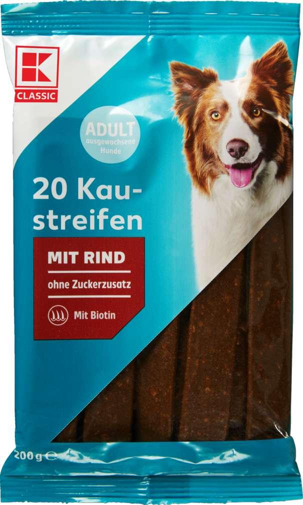 Abbildung des Sortimentsartikels K-Classic Hund Kaustreifen Rind 200g