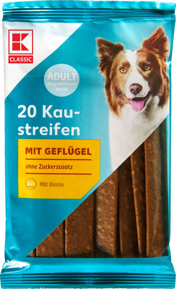 Abbildung des Sortimentsartikels K-Classic Hund Kaustreifen Geflügel 200g