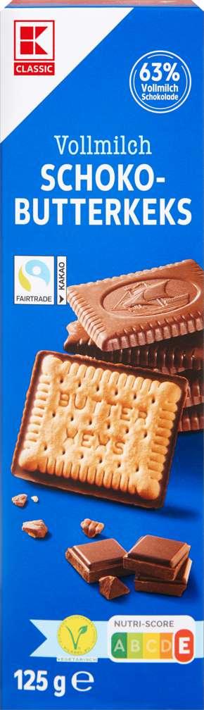 Abbildung des Sortimentsartikels K-Classic Butterkeks mit Vollmilch-Schokolade 125g