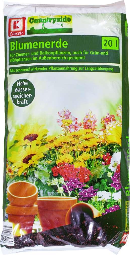 Abbildung des Sortimentsartikels K-Classic Blumenerde für Zimmer- und Balkonpflanzen 20l