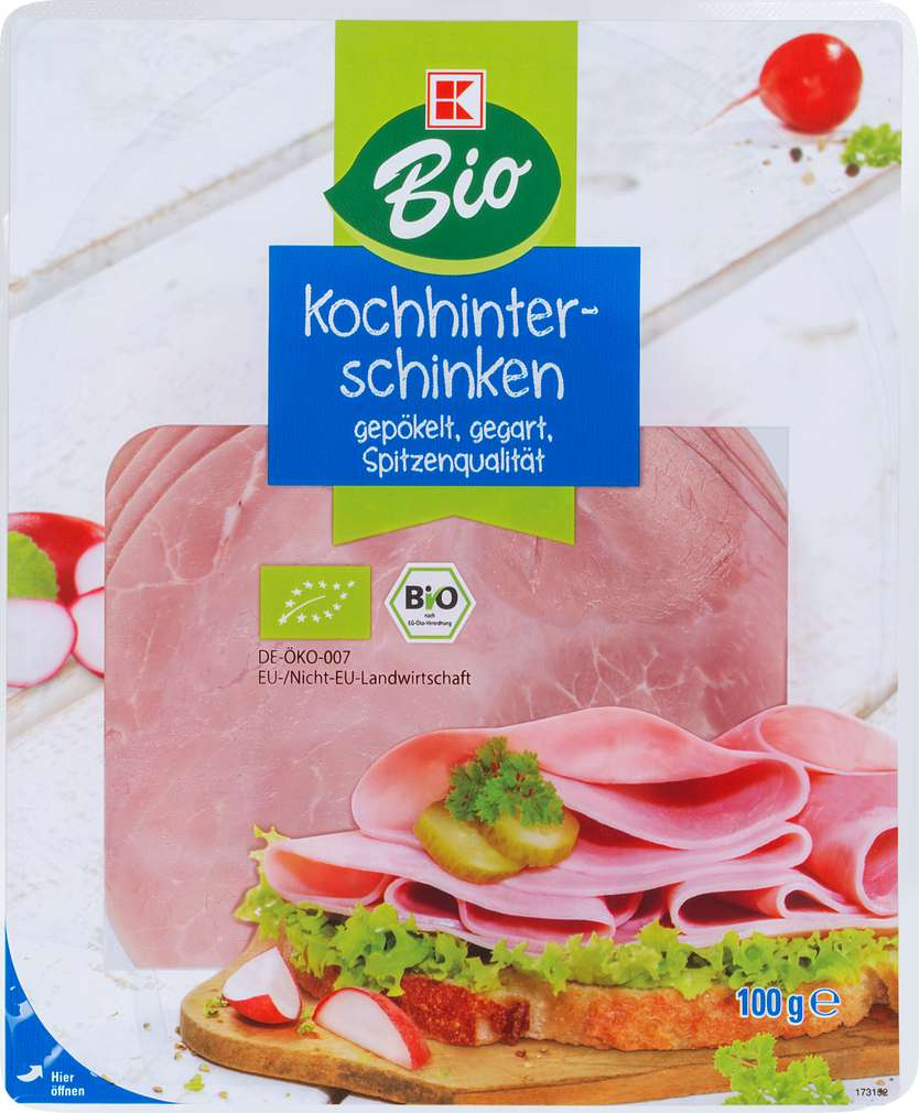 Abbildung des Sortimentsartikels K-Bio Kochhinterschinken 100g