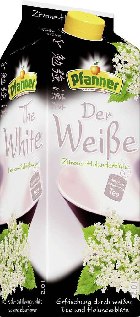 Abbildung des Sortimentsartikels Pfanner Der Weiße Zitrone-Holunderblüte 2l