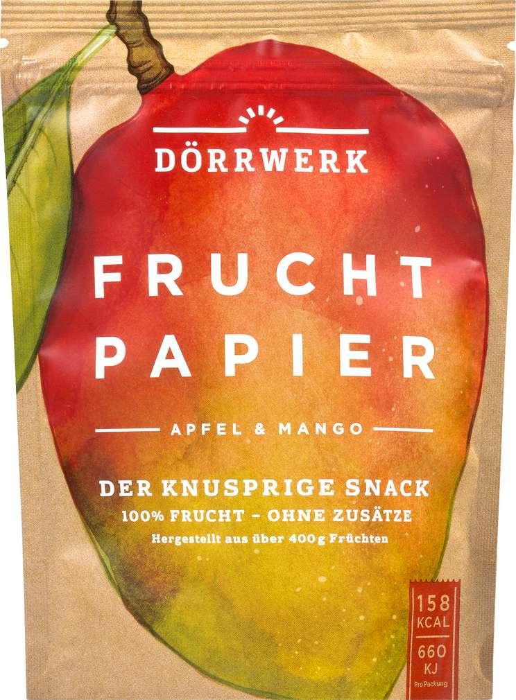 Abbildung des Sortimentsartikels Dörrwerk Fruchtpapier Apfel & Mango 40g