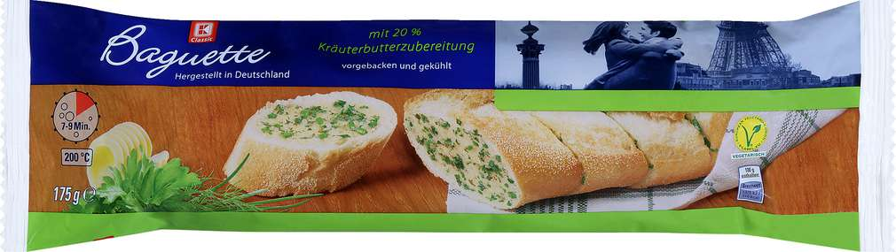 Abbildung des Sortimentsartikels K-Classic Baguette mit 20% Kräuterzubereitung 175g