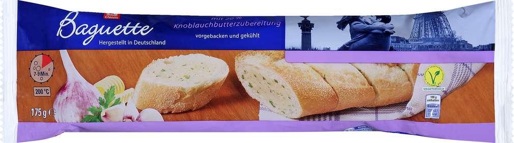 Abbildung des Sortimentsartikels K-Classic Baguette mit 20% Knoblauchbutterzubereitung 175g