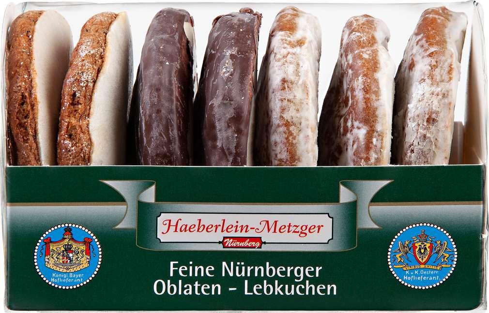 Abbildung des Sortimentsartikels Haeberlein-Metzger Oblatenlebkuchen 3-Fach sortiert 200g