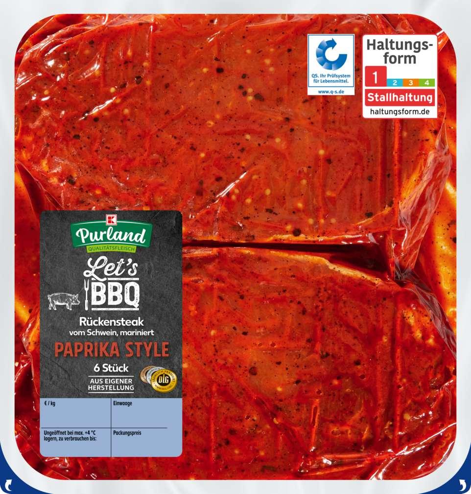 Abbildung des Sortimentsartikels K-Purland Let´s BBQ Steak Paprika Style mariniert, 6 Stück