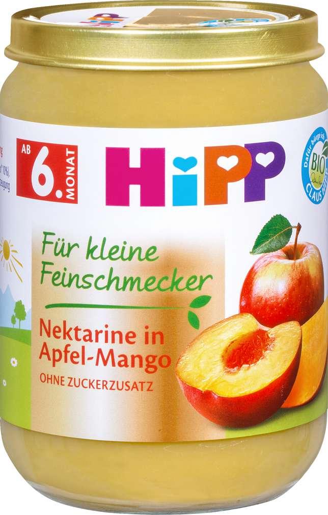 Abbildung des Sortimentsartikels Hipp Nektarine in Apfel-Mango ab 6. Monat 190g