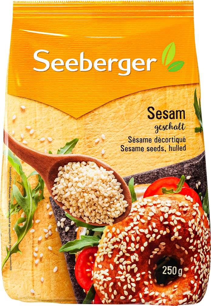 Abbildung des Sortimentsartikels Seeberger Sesam geschält 250g