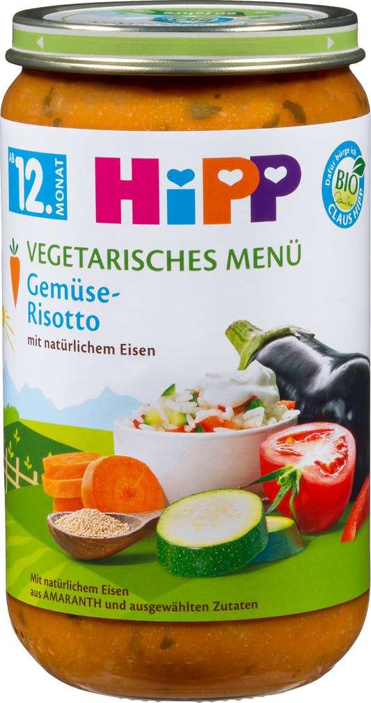 Abbildung des Sortimentsartikels Hipp Vegetarisches Menü Gemüse-Risotto 250g