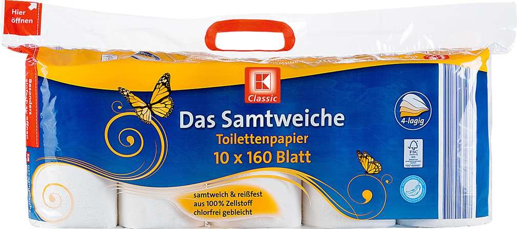 Abbildung des Sortimentsartikels K-Classic Das Samtweiche Toilettenpapier 10x160Blatt