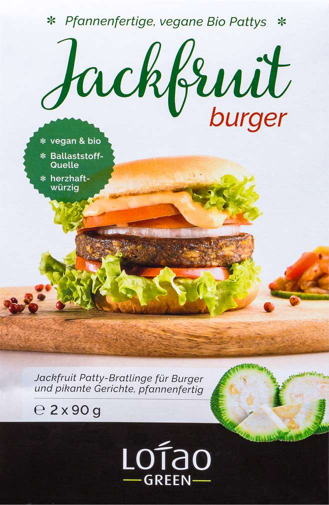 Abbildung des Sortimentsartikels Lotao Bio Jackfruit Burger 2x90g