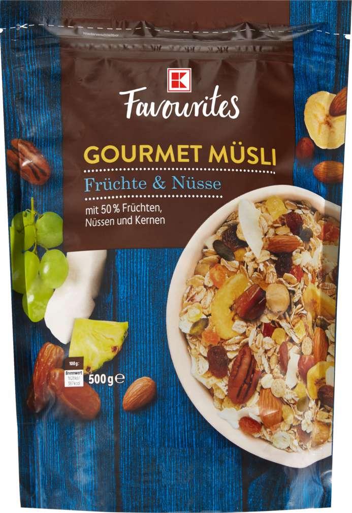 Abbildung des Sortimentsartikels K-Favourites Gourmet Frucht-Nuss Müsli 500g