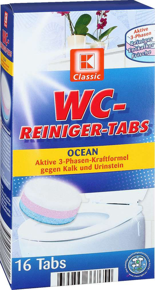 Abbildung des Sortimentsartikels K-Classic WC-Reiniger-Tabs Ocean 16 Tabs