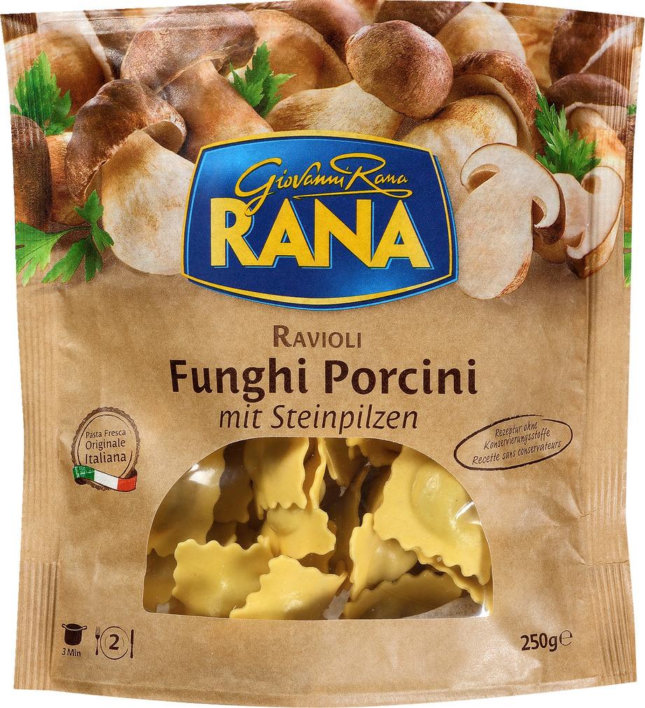 Abbildung des Sortimentsartikels Rana Ravioli Funghi Porcini mit Steinpilzen 250g