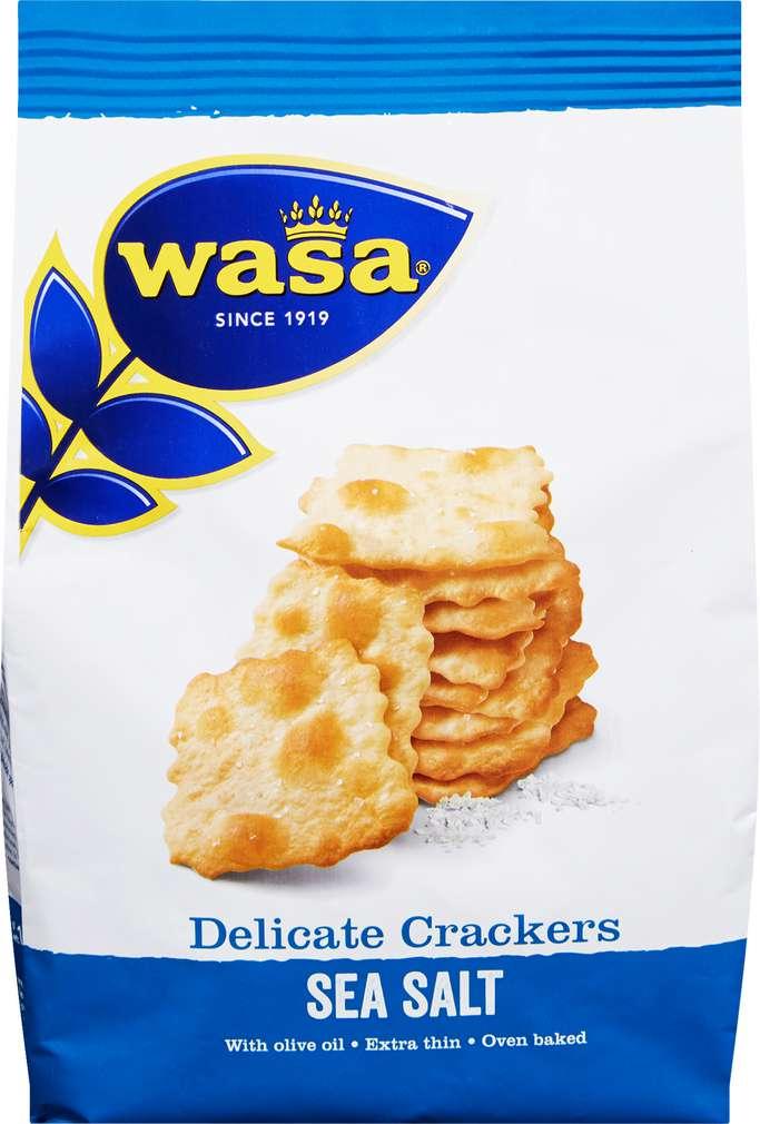 Abbildung des Sortimentsartikels Wasa Delicate Thin Crackers Meersalz 180g