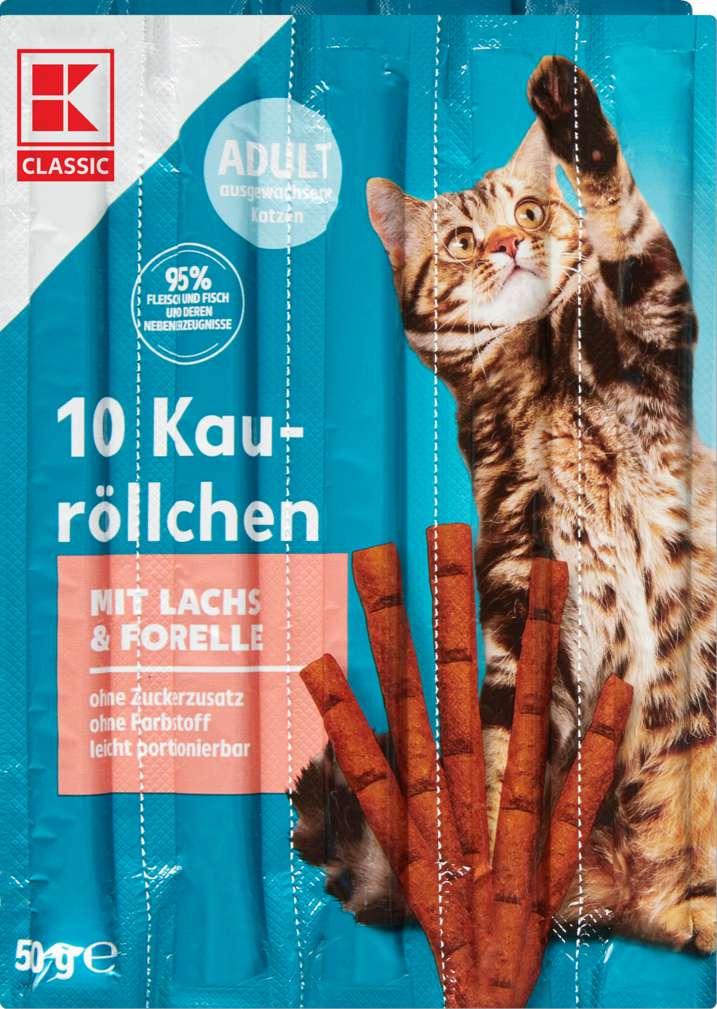 Abbildung des Sortimentsartikels K-Classic Katzensnack Lachs & Forelle 10x5g