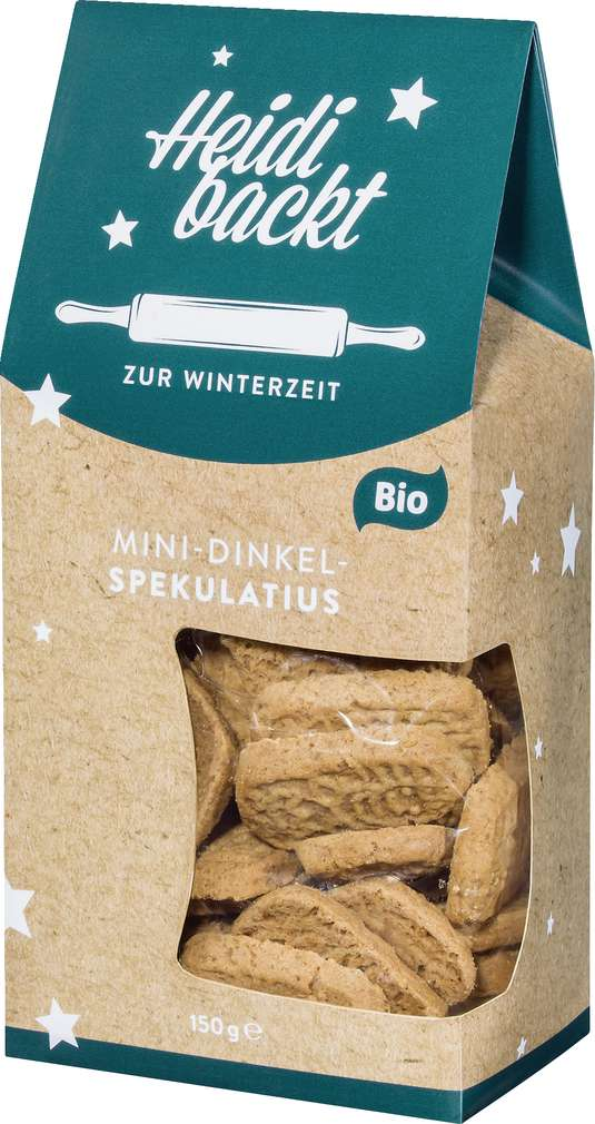 Abbildung des Sortimentsartikels Heidi backt Mini-Dinkel-Spekulatius 150g