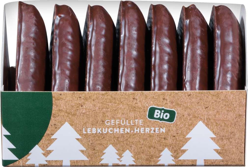 Abbildung des Sortimentsartikels Heidi backt Gefüllte Lebkuchen-Herzen 240g