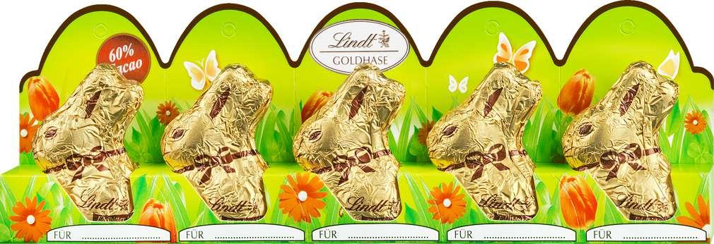 Abbildung des Sortimentsartikels Lindt Goldhase Mini-Hase Edelbitter 50g