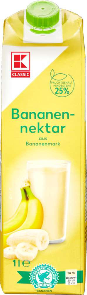 Abbildung des Sortimentsartikels K-Classic Bananennektar 1,0l