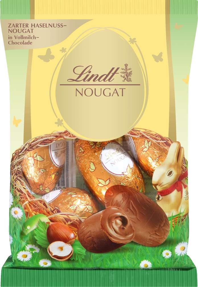 Abbildung des Sortimentsartikels Lindt Nougat-Eier 90g