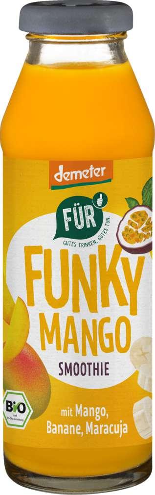 Abbildung des Sortimentsartikels Für Demeter Funky Smoothie Mango/Maracuja/Banane 280ml