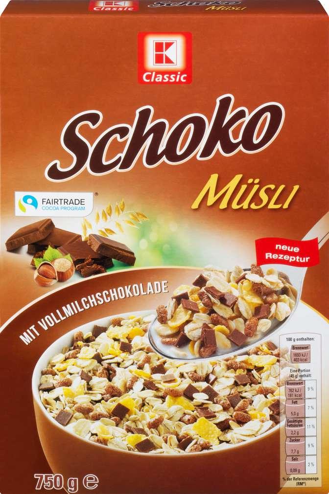 Abbildung des Sortimentsartikels K-Classic Müsli Schoko 750g