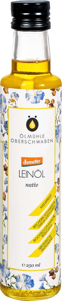 Abbildung des Sortimentsartikels Ölmühlen Oberschwaben Demeter Leinöl nativ 250ml