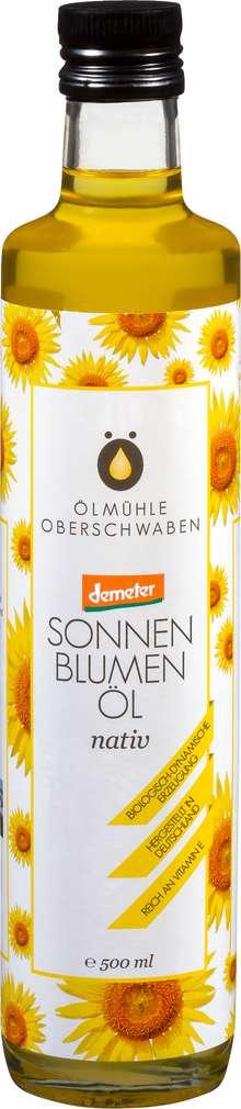Abbildung des Sortimentsartikels Ölmühlen Oberschwaben Demeter Sonnenblumenöl Linoleic nativ 500ml