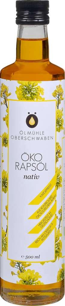 Abbildung des Sortimentsartikels Ölmühlen Oberschwaben Demeter Öko Raps nativ 500ml