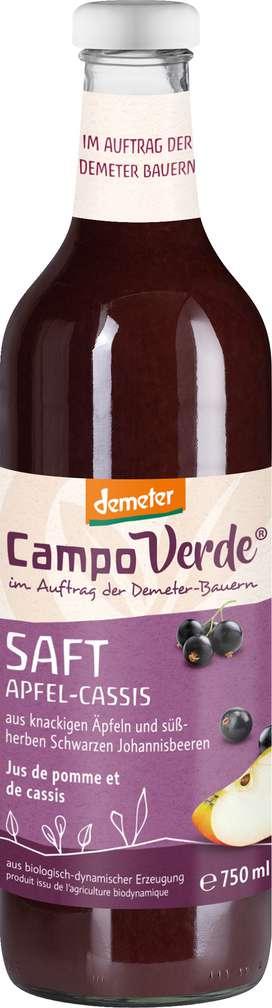 Abbildung des Sortimentsartikels Campo Verde Demeter Apfel-Johannisbeere Saft 750ml