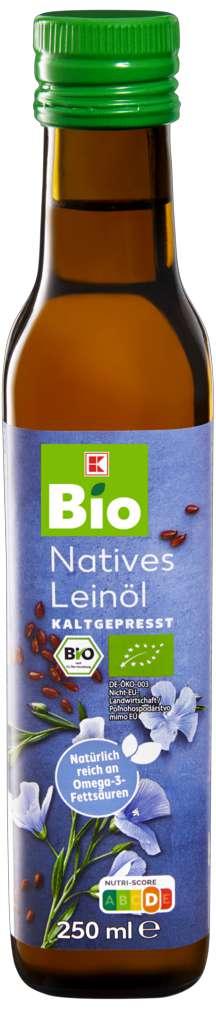 Abbildung des Sortimentsartikels K-Bio Leinöl kaltgepresst 250ml