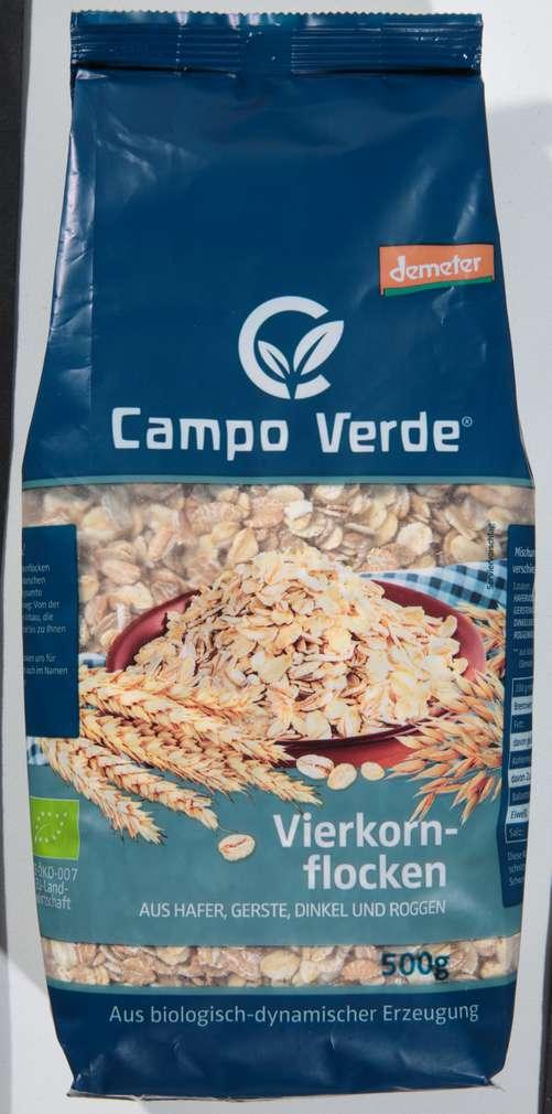 Abbildung des Sortimentsartikels Campo Verde Demeter 4-Kornflocken 500g