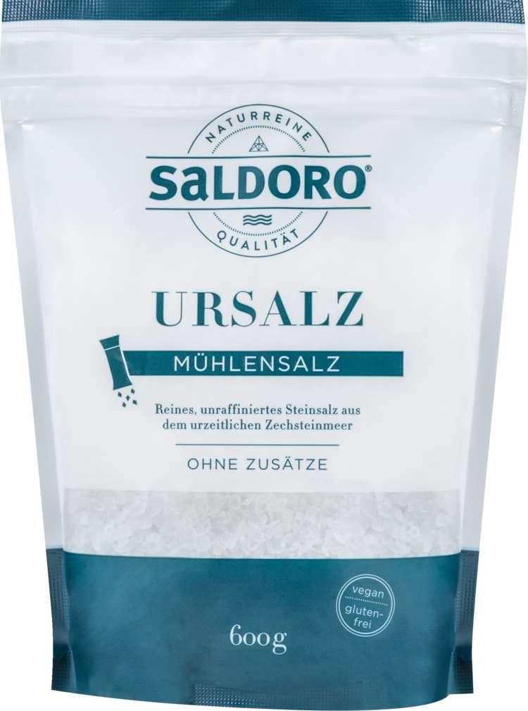 Abbildung des Sortimentsartikels Saldoro Urmeersalz Mühlensalz weiß 600g