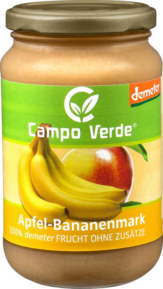 Abbildung des Sortimentsartikels Campo Verde Demeter Apfel-Bananenmark 360g