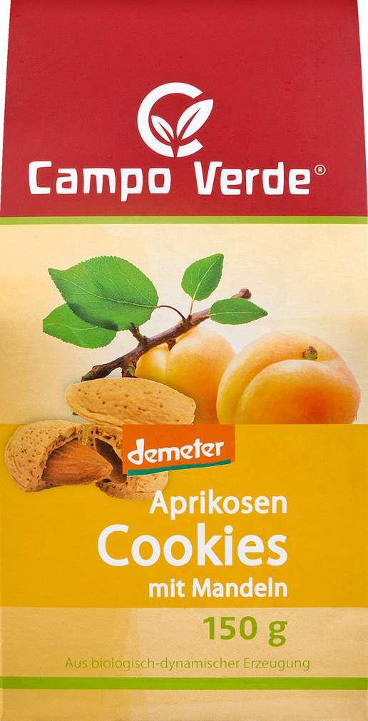 Abbildung des Sortimentsartikels Campo Verde Demeter Aprikosen Cookies mit Mandeln 150g