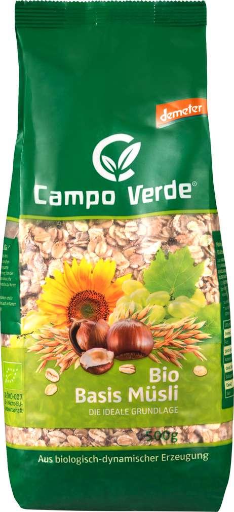 Abbildung des Sortimentsartikels Campo Verde Demeter Basismüsli 500g