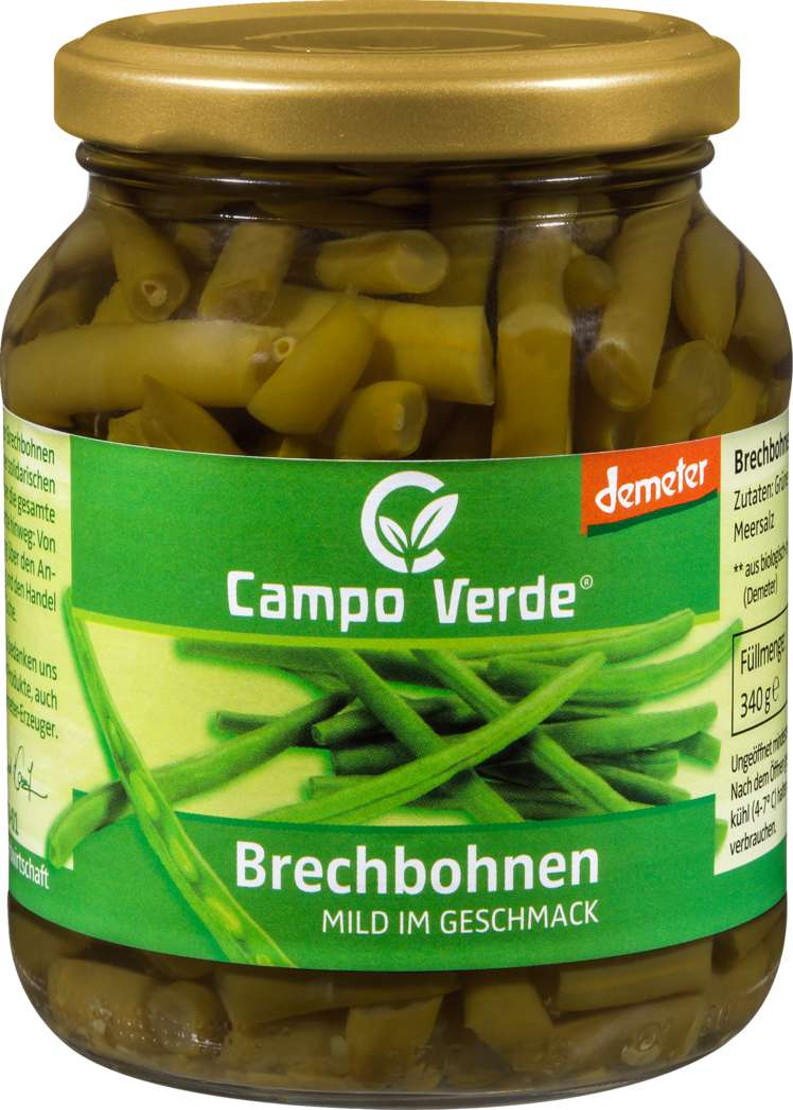 Abbildung des Sortimentsartikels Campo Verde Demeter Brechbohnen 340g
