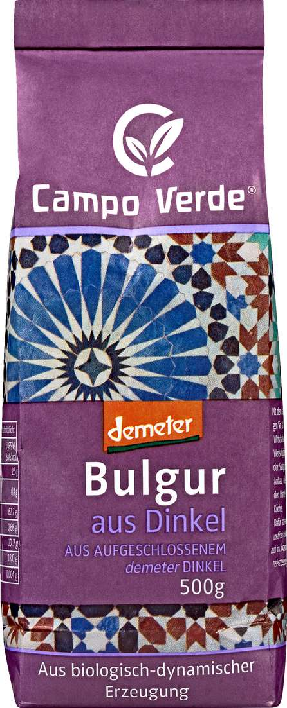 Abbildung des Sortimentsartikels Campo Verde Demeter Bulgur aus Dinkel 500g