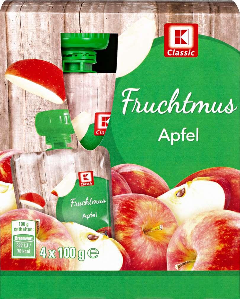 Abbildung des Sortimentsartikels K-Classic Fruchtmus Apfel 4x100g