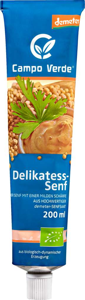 Abbildung des Sortimentsartikels Campo Verde Demeter Delikatess Senf 200ml