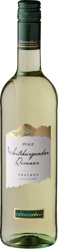 Abbildung des Sortimentsartikels Cultura Vini Weißburg. Rivaner QbA trocken 0,75l