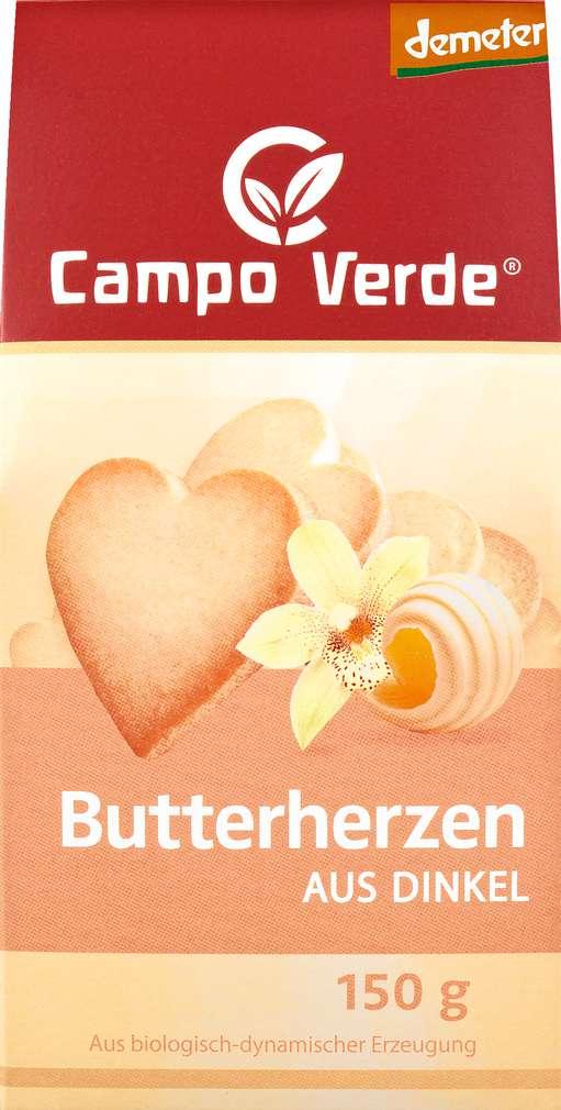 Abbildung des Sortimentsartikels Campo Verde Demeter Dinkel Butterherz 150g