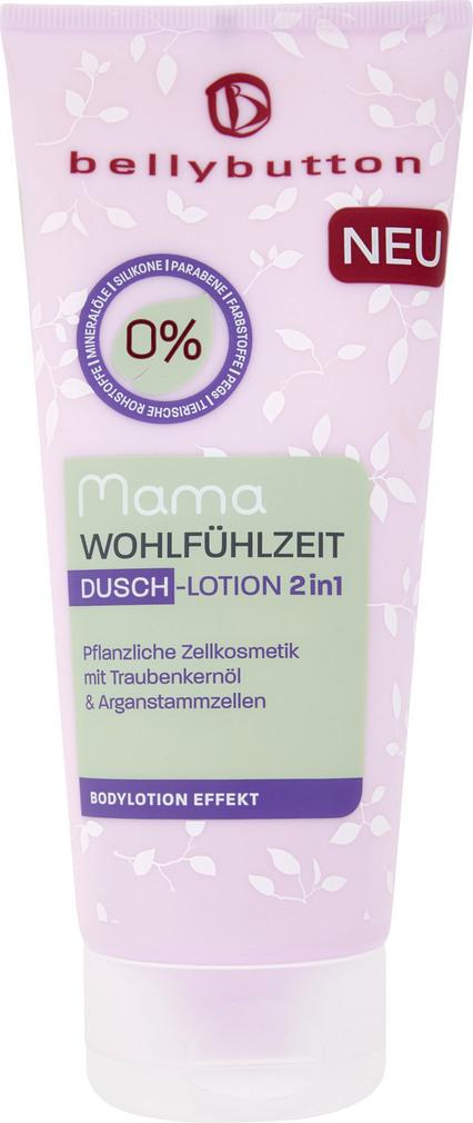 Abbildung des Sortimentsartikels Bellybutton Mama Wohlfühlzeit Dusch-Lotion 2in1 200ml