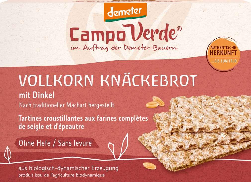 Abbildung des Sortimentsartikels Campo Verde Demeter Dinkel-Knäckebrot 250g